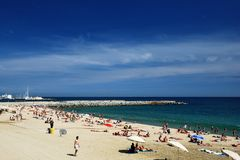Barcelona beach Royalty Free Stock Image