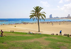 Barcelona beach ,Spain Stock Images