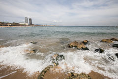 Barcelona beach in spain. A barcelona beach in spain Stock Photo