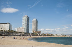 Barcelona beach Stock Photography