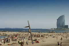 Barcelona beaches Stock Photos