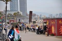 Barcelona beaches Royalty Free Stock Image
