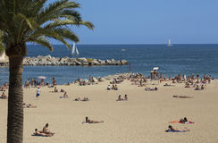 Barcelona Beaches - Spain Stock Photos