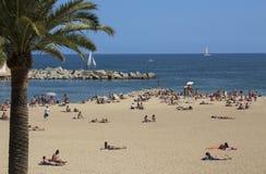 Barcelona Beaches - Spain stock photos