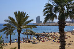 Barcelona Beaches - Spain Stock Photo