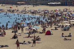 Barcelona Beaches - Spain royalty free stock photos