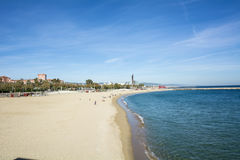 Barcelona beaches, Spain Royalty Free Stock Image