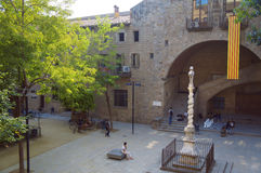 Barcelona biblioteki ogród, Jardins De Rubio ja Lluch zdjęcie royalty free