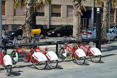 Barcelona bicing Royalty Free Stock Photography