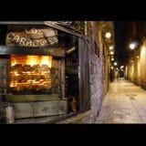 Barcelona bij nacht Stock Foto's