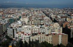 barcelona birdseye Arkivfoto