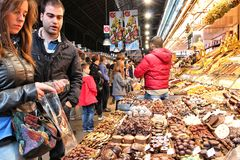 Barcelona - Boqueria Stock Photography
