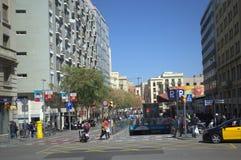 Barcelona boulevard Stock Photo