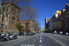 Barcelona boulevard Royalty Free Stock Images
