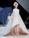 BARCELONA BRIDAL FASHION WEEK - ISABEL SANCHIS CATWALK Stock Image