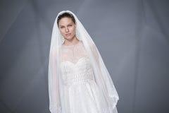 BARCELONA BRIDAL FASHION WEEK - NAEEM KHAN CATWALK Stock Images