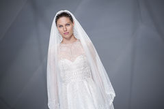 BARCELONA BRIDAL FASHION WEEK - NAEEM KHAN CATWALK Stock Images