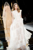BARCELONA BRIDAL FASHION WEEK - YOLAN CRIS CATWALK Stock Photos