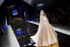 BARCELONA BRIDAL FASHION WEEK - YOLAN CRIS CATWALK Royalty Free Stock Images