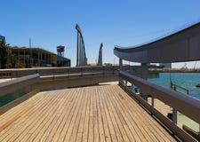 The Barcelona bridge. The Bridge in barcelona, Spain stock photo