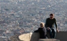 Barcelona budynków gęstości widok od niedalekiego wzgórza Obrazy Royalty Free