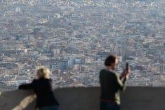 Barcelona budynków gęstości widok od niedalekiego wzgórza Zdjęcie Royalty Free