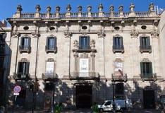 barcelona budynku królewiątka pałac Spain rozpusta Obrazy Royalty Free