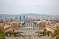 barcelona budynku miasta gaudi park Spain Obraz Stock