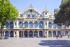 Barcelona. Building is Advice of port works, it is built at the Royalty Free Stock Image