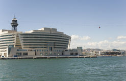 Barcelona, building of sea passenger port. Royalty Free Stock Photo