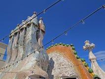 Barcelona buildings streets and Antoni Gaudi city beauty. Spring vacation. Sun. Art. Catalonia. Spain Stock Photo