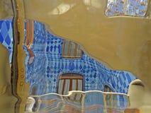 Barcelona buildings streets and Antoni Gaudi city beauty. Spring vacation. Sun. Art. Catalonia. Spain Royalty Free Stock Images