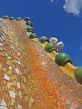 Barcelona buildings streets and Antoni Gaudi city beauty. Spring vacation. Sun. Art. Catalonia. Spain Stock Photos