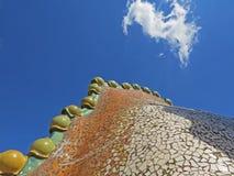 Barcelona buildings streets and Antoni Gaudi city beauty Stock Photos
