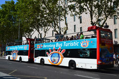 Barcelona-Bus touristisch lizenzfreies stockfoto