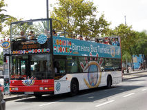 Barcelona bus turistic, tour Royalty Free Stock Photography