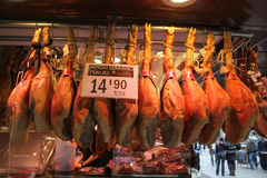 Barcelona Butcher Stock Photos