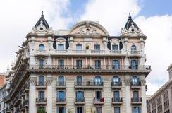 Barcelona byggnad Royaltyfri Foto