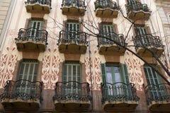 barcelona byggnad Royaltyfri Bild