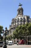barcelona byggnad de gracia historisk passeig Arkivfoto