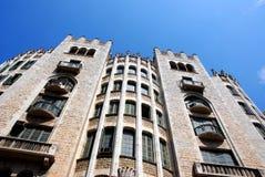 barcelona byggnad spain Arkivfoton