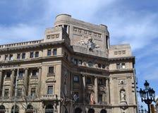 barcelona byggnad spain Arkivbilder
