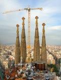 barcelona byggnadsfamilia sagrada spain Arkivfoton