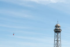 Barcelona cable car Royalty Free Stock Photography