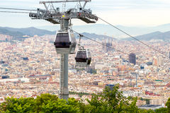 Barcelona. Cableway Stock Photography
