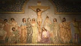 Barcelona - calvary - relief. From church Sagrad cor de Jesus Stock Photography