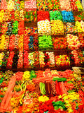 Barcelona, Candy Shop. A colorful candy shop in Barcelona's Mercat de Sant Josep (La Boqueria Stock Photography