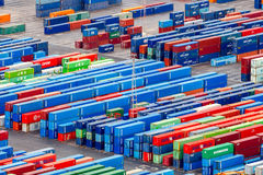 Barcelona. Cargo port Royalty Free Stock Photos