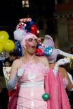 Barcelona Carnival Pink Dress-Up Stock Photography