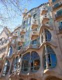 Barcelona Casa Batllo facade of Gaudi. In Paseo de Gracia Stock Images